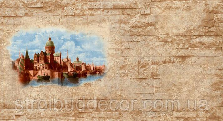 Обои бумажные мойка  Шарм 0,53*10,05  Замок кухня, коридор