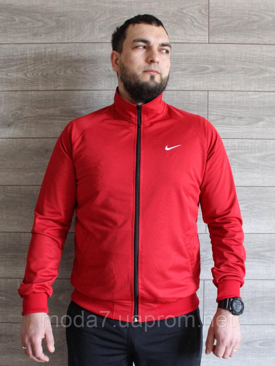 Кофта спортивная мужская Nike красная реплика