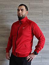 Кофта спортивная мужская Nike красная реплика, фото 2