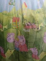 Тюль для  детской  комнаты  свинка Пеппа