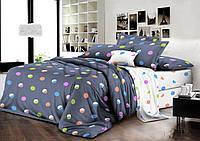Детское подростковое полуторное постельное белье Цветные круги