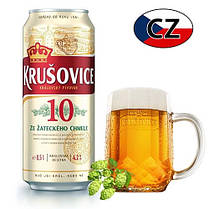 Пиво баночное светлое Krušovice 10% 0,5л Чехия