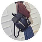 Рюкзак PU кожзам женский чёрный с красочным оформлением замочками, фото 5