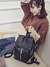 Рюкзак PU кожзам женский чёрный с красочным оформлением замочками, фото 6