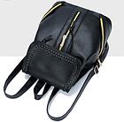 Рюкзак PU кожзам женский чёрный с красочным оформлением замочками, фото 10