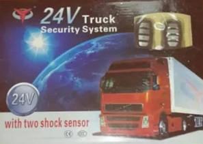 Автосигнализация для грузовиков Сигнализация для фур, прицепа 24v Truck Security car Original size, фото 2
