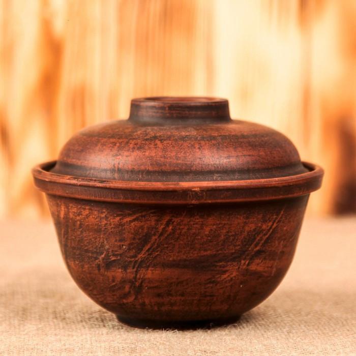 Горшок глиняный для запекания, 0,5 л