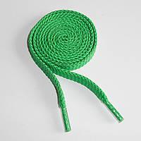 Шнурки обувные полиэфирные. Плоские, 1 м. (зеленые)