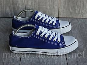 Женские - подростковые кеды Converse синие реплика, фото 2