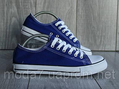 Женские - подростковые кеды Converse синие реплика