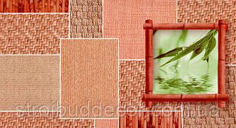 Шпалери паперові мийка Шарм 0,53*10,05 Твіст під плетінку кухня, коридор