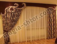 Ламбрекен для спальни + 2 портьеры, фото 1