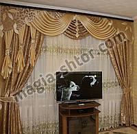 Ламбрекен со шторами для гостиной, спальни
