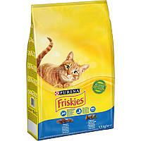 Friskies с лососем и  овощами 1,5 кг для кошек