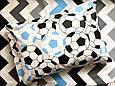 Постельное белье полуторное Футбольные мячи (100 % хлопок), фото 3