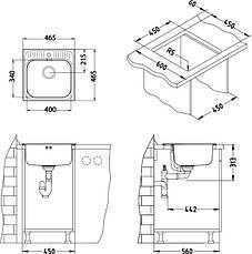 Кухонная мойка Alveus Basic 140 (Нержавейка) (с доставкой), фото 2