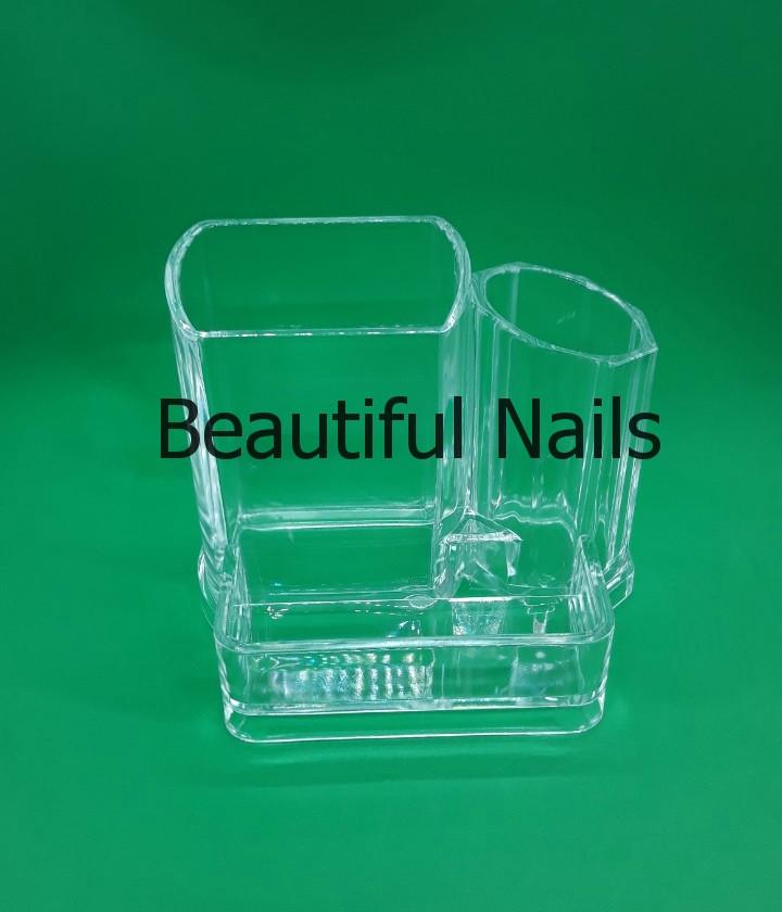 Пластиковый органайзер для макияжных кистей