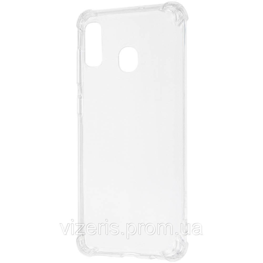 Чехол- накладка Samsung Galaxy M20 (M205F) WXD Силикон противоударный Прозрачный