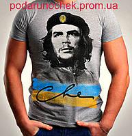 Футболка с символикой Че Гевара 46, Украина, Светло-серый