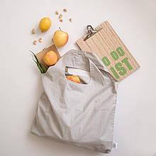 Шоппер эко сумка для продуктов хлопок клетка