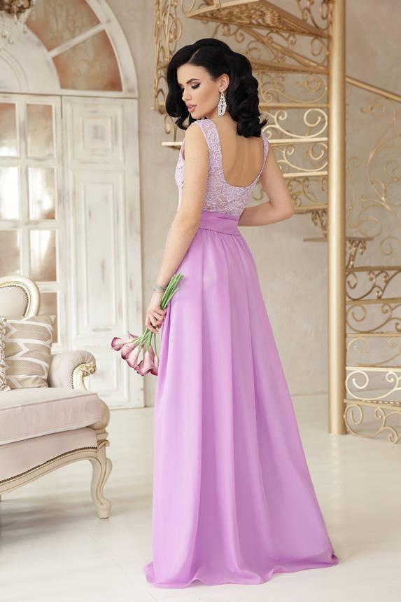 Вечернее выпускное платье длинное сиреневое, фото 2