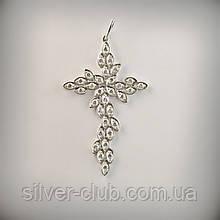 Оригинальный серебряный крестик с камнями от производителя в Харькове