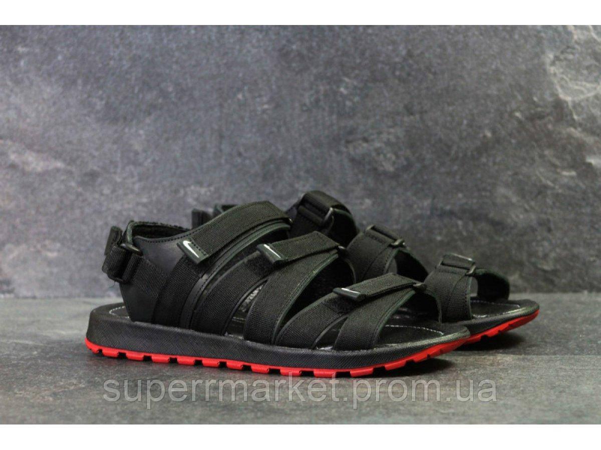 Мужские сандалии Nike, черные (Топ реплика ААА+) 5243