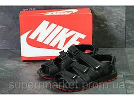 Мужские сандалии Nike, черные (Топ реплика ААА+) 5243, фото 2