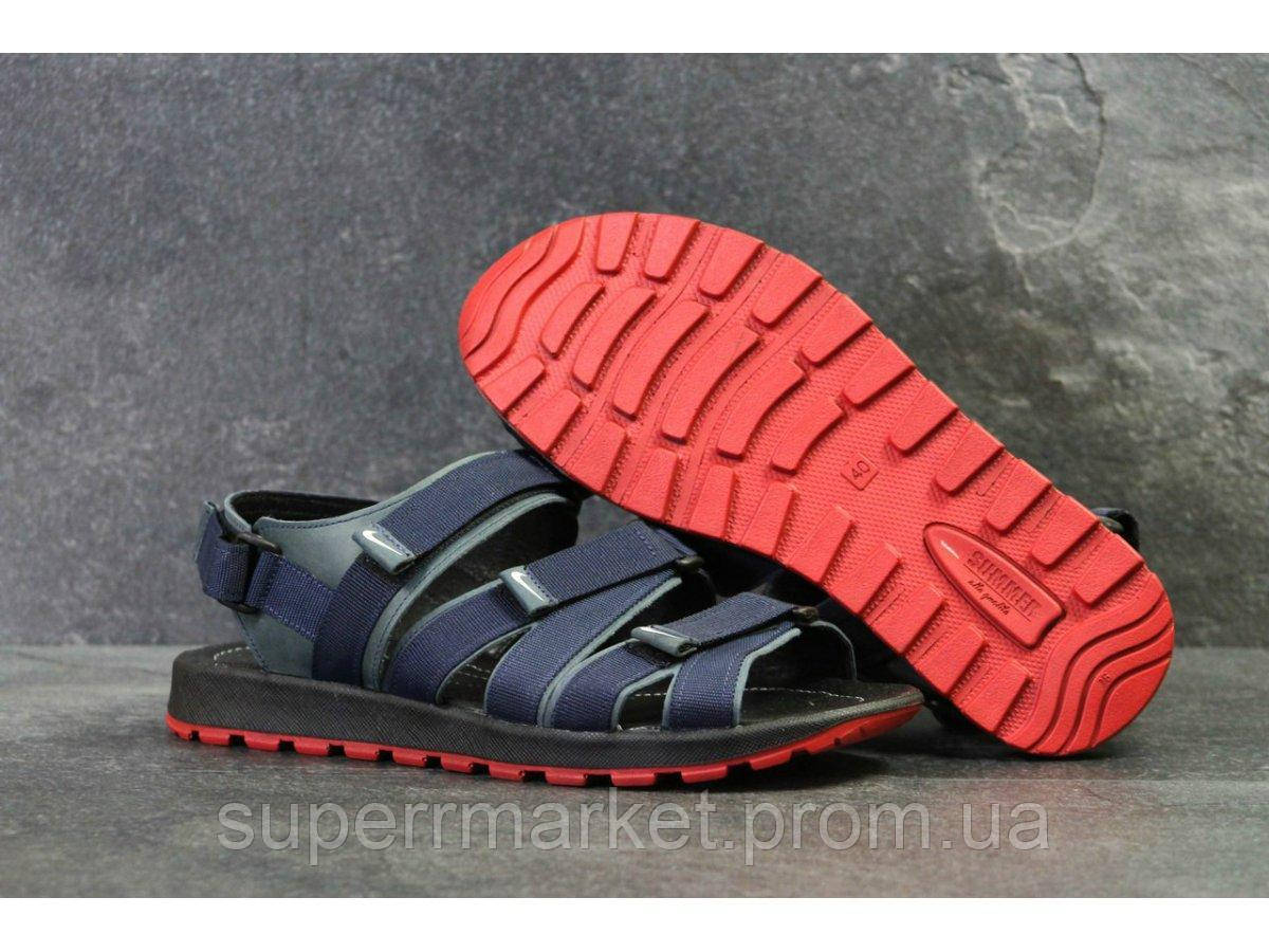 Мужские сандалии Nike, синие  Топ реплика ААА+  5241