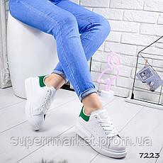 Кроссовки MQ женские, белый + зеленый, 7223, фото 2