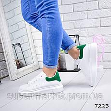 Кроссовки MQ женские, белый + зеленый, 7223, фото 3