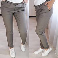 Женские стильные летние брюки,  капучино