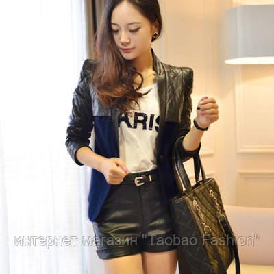a749a11022f Куртка с кожаными вставками