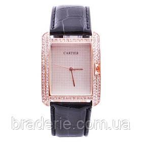 Часы наручные Cartier 3 Женские Квадратные в стразах