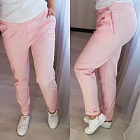 Женские стильные летние брюки,  розовые