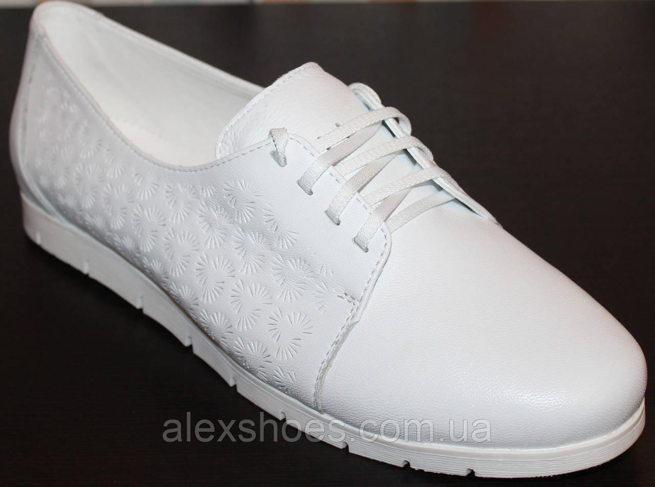 Туфли женские большого размера из натуральной кожи от производителя модель В3544-19