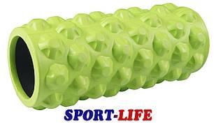 Массажный ролик (валик, роллер) SportVida SV-HK0063 Green