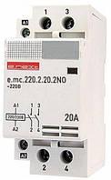 Модульный контактор 2 полюса, 20А, 2NO, 220 В, (Инекст)