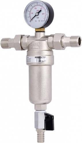 ECO 750 фильтр самопромывной хром 1/2 с манометром