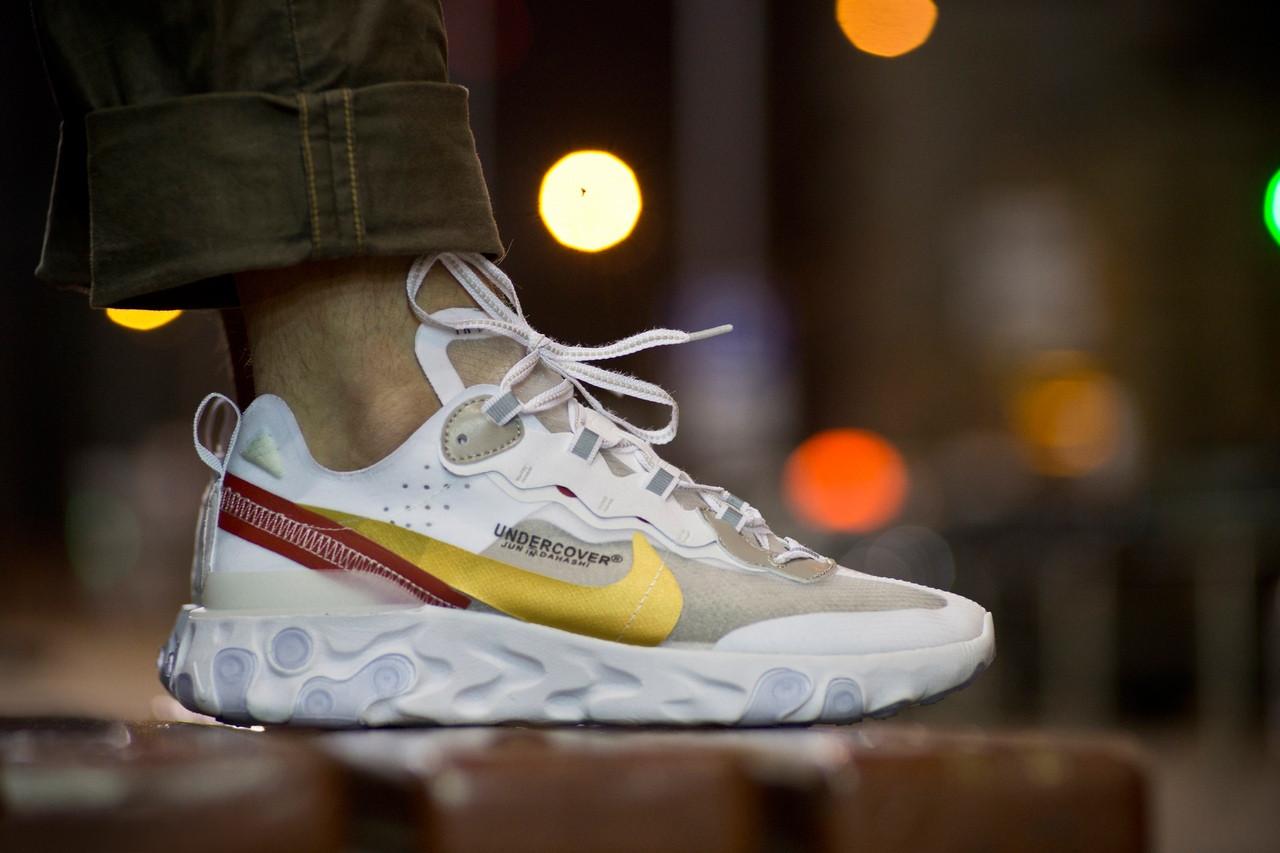 "Кроссовки Nike Undercover React Element 87 ""Белые\Бежевые"""