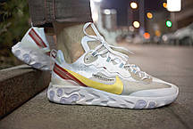 "Кроссовки Nike Undercover React Element 87 ""Белые\Бежевые"", фото 3"