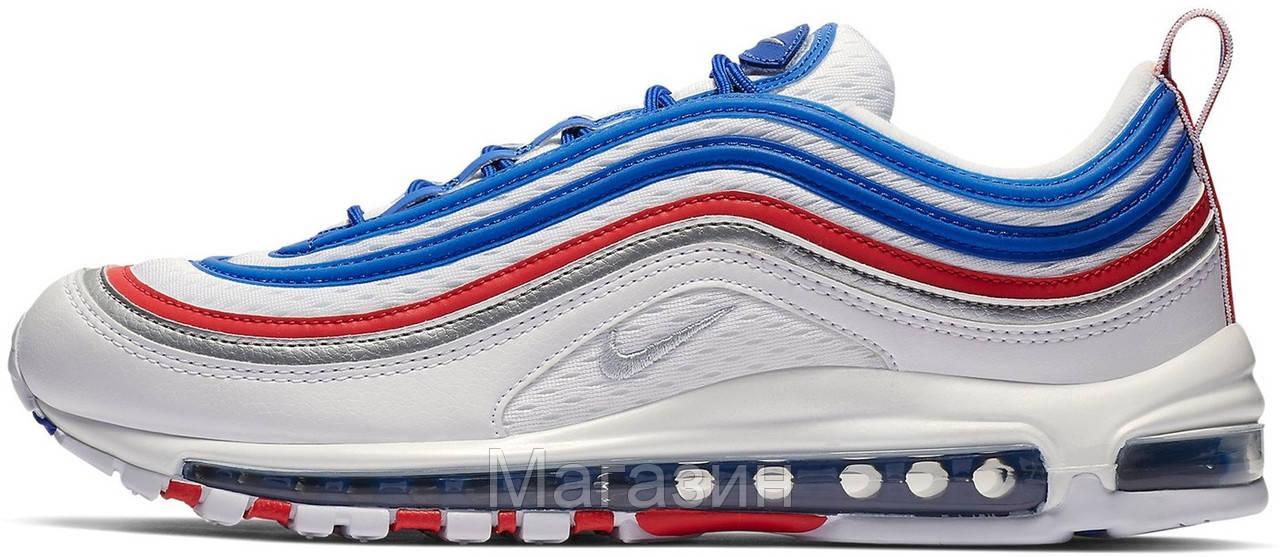 "Мужские кроссовки Nike Air Max 97 All Star Jersey ""Game Royal / Metallic Silver"" (Найк Аир Макс 97) белые"