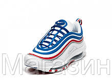 "Мужские кроссовки Nike Air Max 97 All Star Jersey ""Game Royal / Metallic Silver"" (Найк Аир Макс 97) белые, фото 3"