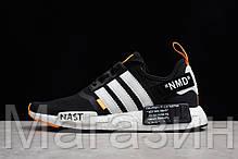 """Мужские кроссовки OFF-WHITE x adidas NMD R1 """"Black/White/Orange"""" (в стиле Адидас НМД ОФФ Вайт) черные, фото 2"""