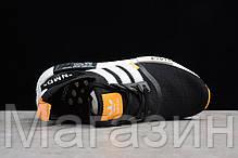 """Мужские кроссовки OFF-WHITE x adidas NMD R1 """"Black/White/Orange"""" (в стиле Адидас НМД ОФФ Вайт) черные, фото 3"""