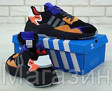 Мужские кроссовки adidas Nite Jogger Black / Orange (Адидас) черные с оранжевым, фото 3