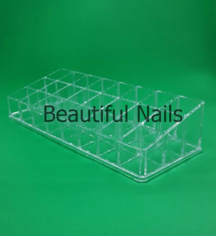 Пластиковый органайзер для косметики и лаков.