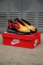 """Кроссовки Nike Air Max 720 """"Оранжевые\Желтые\Черные"""", фото 3"""