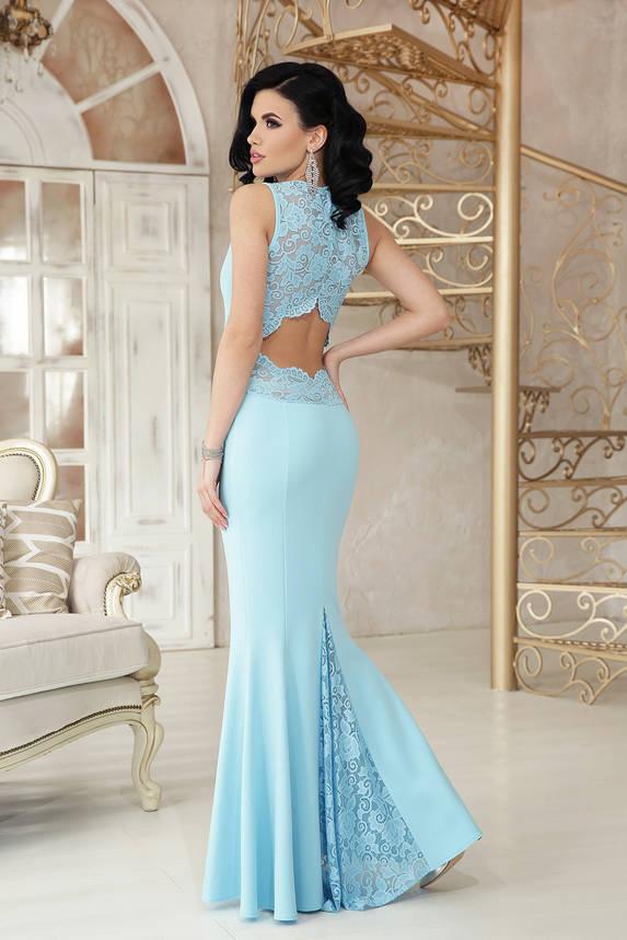 Выпускное платье в пол вечернее облегающее голубое, фото 2