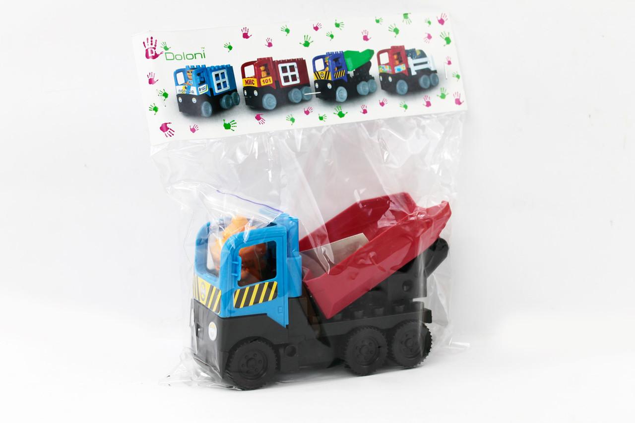 Конструктор-машинка «Грузовик» (01388824), мікс кольорів, Doloni
